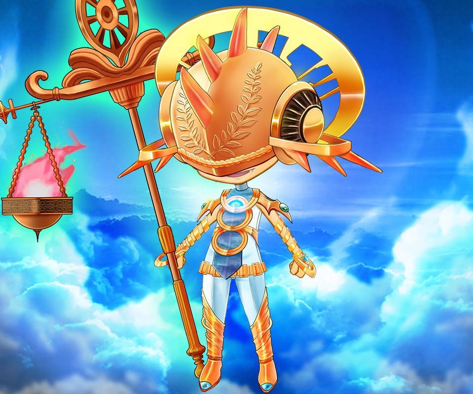 正義を執行する天界からの戦士をイメージしたエンフォース装備